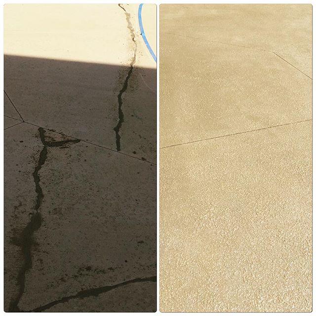 fixed concrete crack
